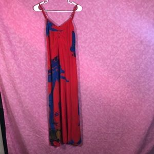 Azteca Long Red Summerdress! Size Small